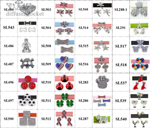 New 10pcs 10mm Slider Charm Symbols Great For DIY  Pet Collar wristband Jewelry