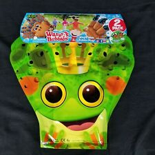 Zing Wave A Bubbles Package of 2 Hours Of Bubble Fun Green Frog New Sealed
