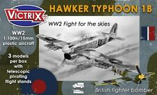 Hawker typhoon 1B-victrix aircraft 1/100TH 15MM-british avions de guerre WW2 flammes