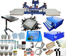 4 Color Screen Printing Materials and Machine Kit Dyrer Exposure Press Ink Tool