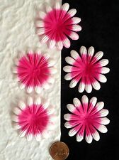 10 Flowers petals Fuchsia flower Hot Pink Handmade Mulberry Paper Tropical card