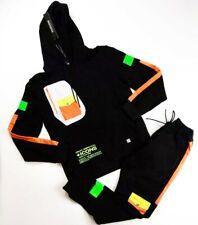 Hudson Mens 100%authentic 2p set Hoodie & sweat pants size Large black
