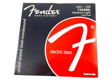 Fender 7250ML NPS Roundwound Electric P/Jazz Bass Strings .045-.100 073-7250-405