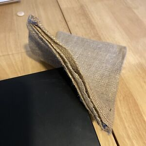 10 x Small Hessian Sacks, double pouch. 25cm x 18cm NEW!