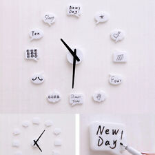 Modern Adhesive DIY Wall Clock Home Decor Stickers Draw by Yourself