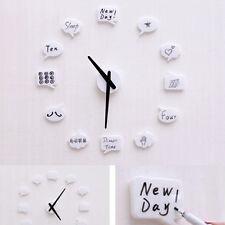 Clock - Design It Your Self DIY Wall Clock with Reminding Writing Pad Memo