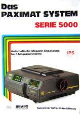 Das Paximat System Serie 5000 Braun Photo Technik Prospekt brochure - (0452)
