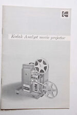Kodak Analyst Movie Projector Instruction Owners Manual Guide Book - USED B54