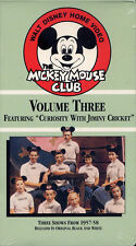 THE MICKEY MOUSE CLUB volume 3   VHS VIDEOTAPE  NEW a few rounded corners