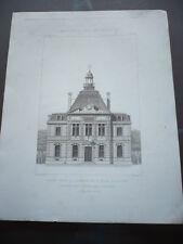 GRAVURE 1873 MAIRIE POUR LA COMMUNE DE SAINT MAUR SAINT HILAIRE PAR RATOUIN ARCH