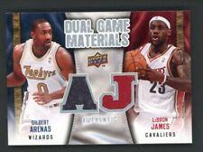 2009-10 Upper Deck Lebron James- Gilbert Arenas Dual Game Materials Sharp Card!