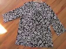 BEAUTIFUL BLACK AND WHITE TOP BY MILLERS, SIZE 12
