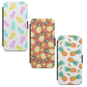 Pineapple Print Pattern WALLET FLIP PHONE CASE COVER FOR IPHONE SAMSUNG HUAWEI