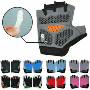 Road MTB Bicycle Cycling Half Finger Gloves GEL Padded BMX Bike Riding Mittens