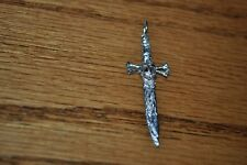 Skull and dagger with snake sterling pendant custom
