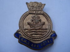 C1960S VINTAGE H.M.S.ARK ROYAL SOUVENIR ENAMEL PIN BROOCH