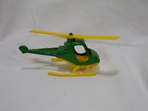 """Vintage 1977 Tootsietoy Scorpion Helicopter - Green with Yellow 4"""" Long"""