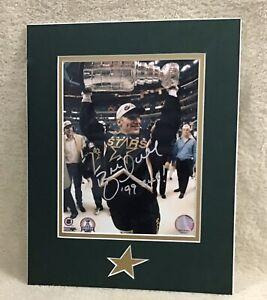 """NHL Dallas Stars HOF Brett Hull Autographed Photo On Foam Board 11"""" X 14"""""""