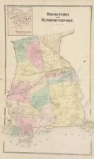 Antique Map Kennebunkport Biddeford Maine Sanford Everts York County 1872