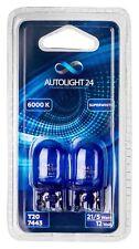 2x W21/5W Halogen T20 Standlicht Xenon Weiß Lampe Birne Glühlampen Tagfahrlicht