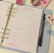 A5 | Planner Insert | Filofax | Kikkik | Day On 1 Page | Pink | Grid