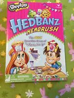 "NIB- SHOPKINS Spin Master Hedbanz Headrush ""What Am I?"" Board Game. Never Used!!"