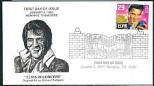1993 Elvis Presley First Day Cover FDC Memphis Tennessee Cancellation