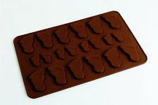 BABY FEET Chocolate Candy Silicone Bakeware Mould Cupcake Topper Cake Decorating