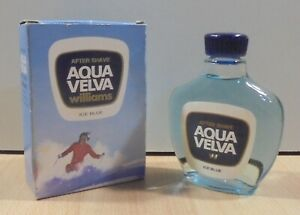 AQUA VELVA WILLIAMS ICE BLUE VTG AFTER SHAVE LOTION 100CC