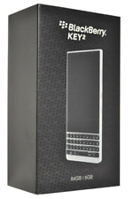 BlackBerry KEY2 Silver 64/6GB 4G LTE 12MP/8MP Dual Cam works on TMO/ATT