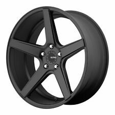 KMC 20x10.5 KM685 District Wheel Satin Black 5x4.5 / 5x114.3 +45mm Offset 7.52""