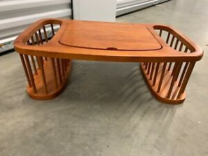 Vintage Wooden Lap Desk with side bins. Gently used. Made in Vietnam.