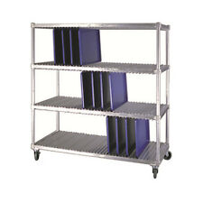 New Age 96087 Mobile 3 Level Tray Drying Rack W/ (20) Trays per Level Capacity