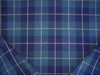 3-1/2Y Ralph Lauren LFY00851F Palm Harbor Plaid Original Blue Upholstery Fabric