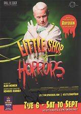 LITTLE SHOP OF HORRORS - RHYDIAN ROBERTS - HANDBILL + RARE ORIGINAL AUTOGRAPH
