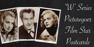 PICTUREGOER - 'W' Series 1940s ☆ FILM STAR ☆ Postcards #W401 to #W600