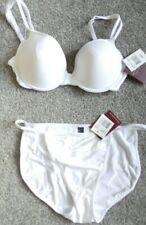 DONNA L'OREN White bra & brief set size 34c/L (12-14) BNWT