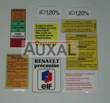 9 Autocollants Stickers Renault Clio 16S 16V Phase 1 Compartiment Moteur Engine