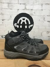 Khombu Men's Tyler Hiking Boots Waterproof Gray Leather ~ Man Made Materials