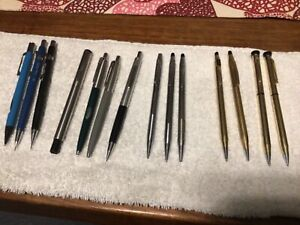 14 Vintage Gold Filled Pens Mechanical Pencils Cross Parker Kohinoor Garland NR