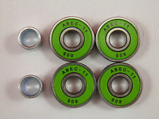 4 x ABEC 11 SCOOTER BEARINGS *NEW* GREEN SHIELDS