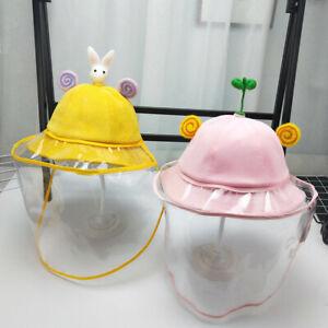 Anti-fog Windproof Hat Anti-saliva Face Cover Cap Kids Girls Boys Anti-spitting