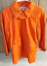 MICHAEL KORS Orange Cotton Blend Trench Coat Raincoat Sz Small