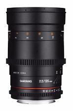 SALE Samyang 135mm T2.2 AS UMC VDSLR II Lens for Canon EF Mount