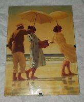 The Picnic Party II by Jack Vettriano Art Print Sand Beach Seascape framed 7 x 5