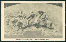 Militari Reggimentale Genova Cavalleria Bricchetto 1925 cartolina XF6822