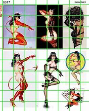 6017 DAVE'S DECALS LARGE BETTIE PAGE SEXY ART IMAGES OTHERS GARAGE  GRAFFITI ART
