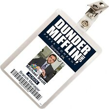 The Office Michael Scott Dunder Mifflin ID Badge Cosplay Costume Name Tag TO-2