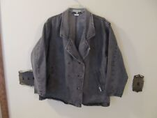 Guess Georges Marciano Vintage  Denim Jean Jacket Women's Size Large  Gray Wash