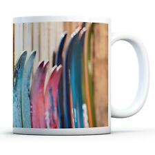 Colourful Skis - Drinks Mug Cup Kitchen Birthday Office Fun Gift #12453